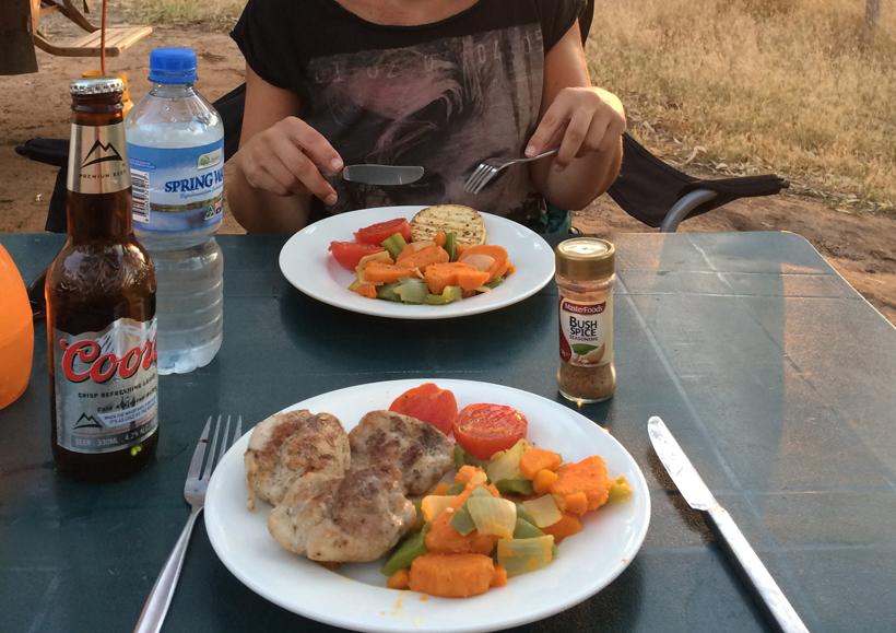 avondeten op murchison camping