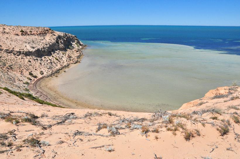 woestijn en zee shark bay eagle bluff