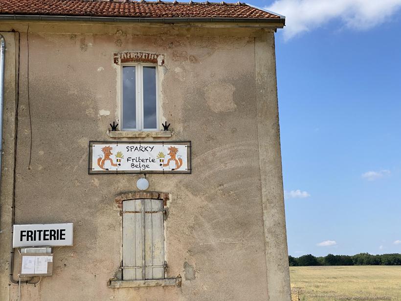 Belgische frituur in Bourgogne