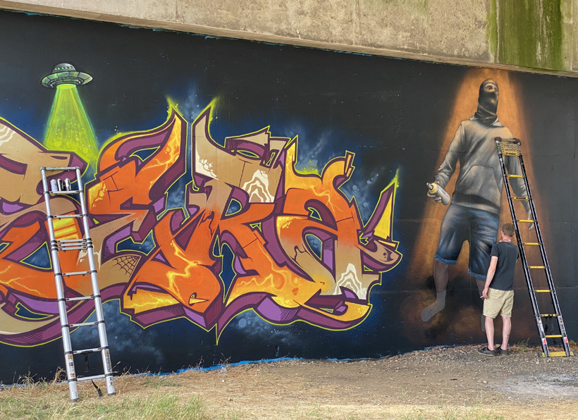 graffiti bij moezel in Metz