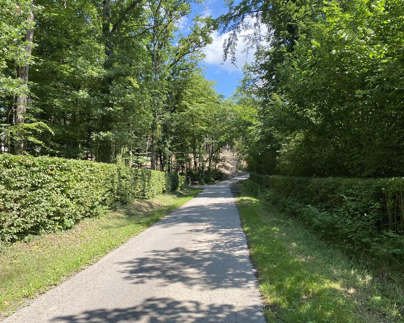 start wandeling naar abdij Rochefort