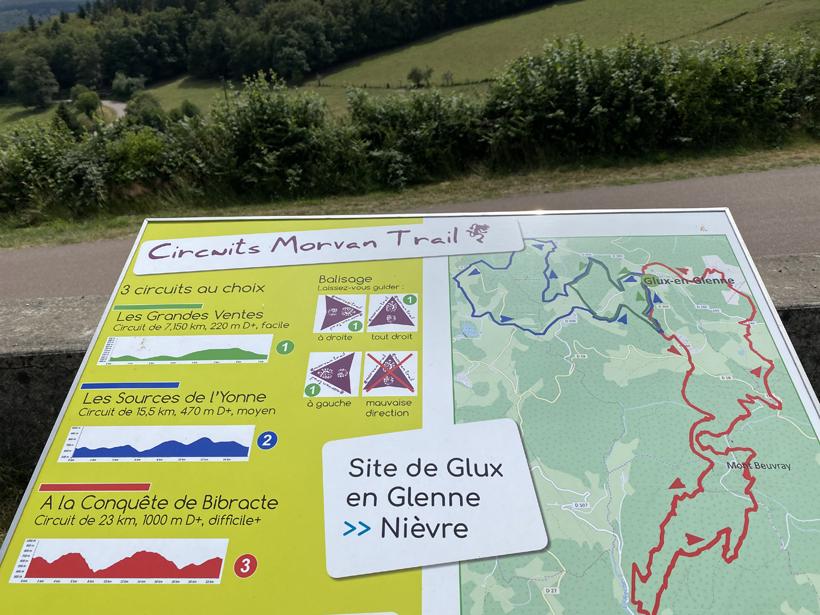 wandelpaden in Glux-en-Glenne