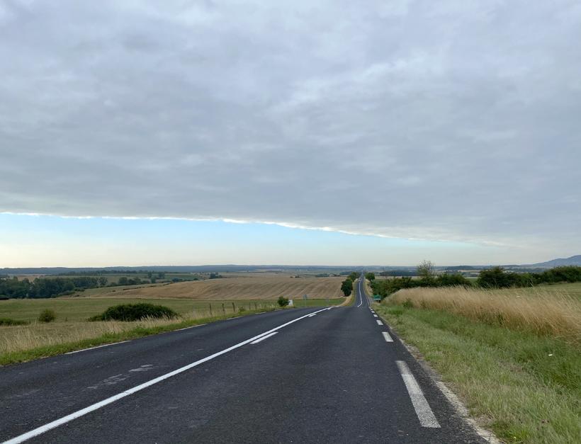 brede wolkenband in bourgogne