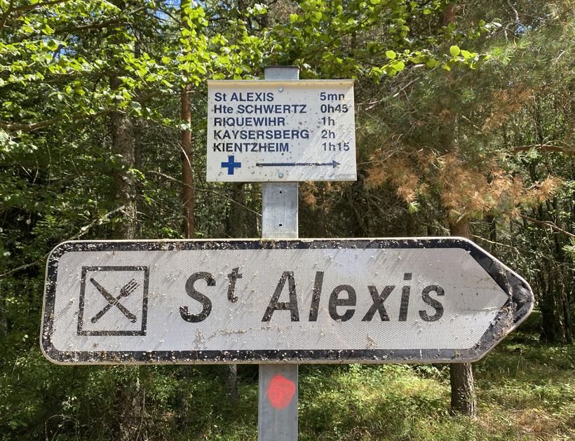 wandelen aan Saint Alexis