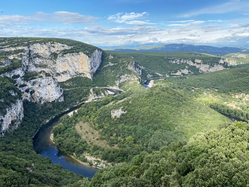 gorge d'Ardèche uitzicht