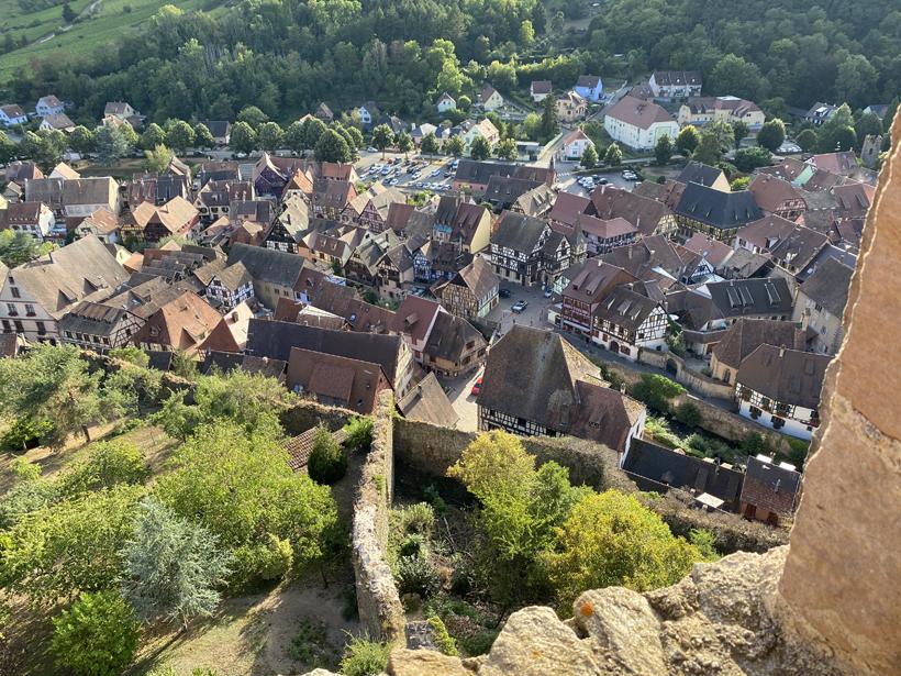 zicht vanop kasteel schlossberg in Kaysersberg