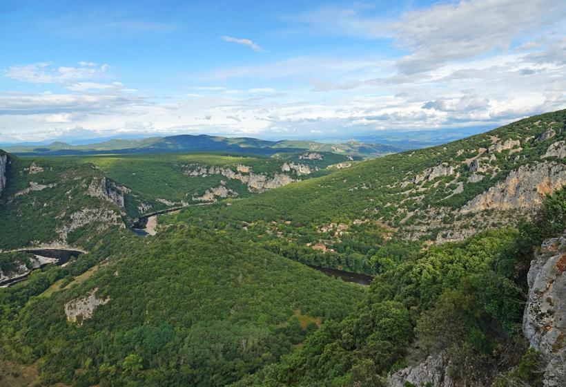 gorge d'Ardèche landschap