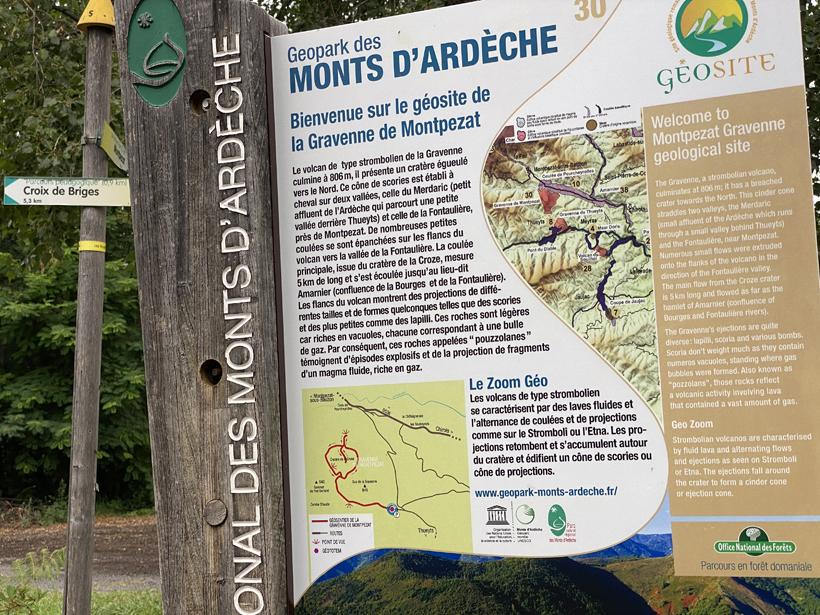 wandeling vulkaan gravenne de Montpezat