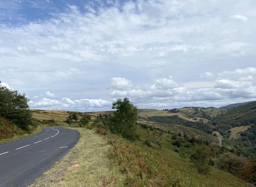noord Ardèche landschap