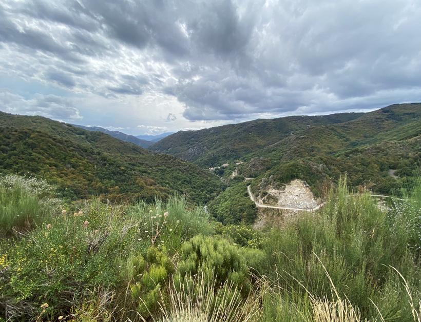 landschap noorden Ardèche bij Antraigues