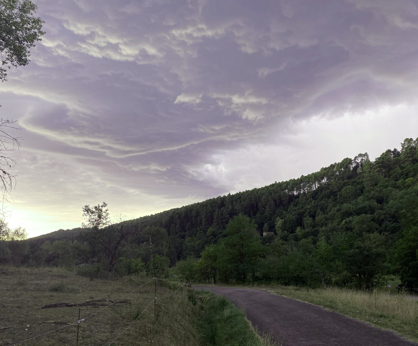onweer in de Ardèche