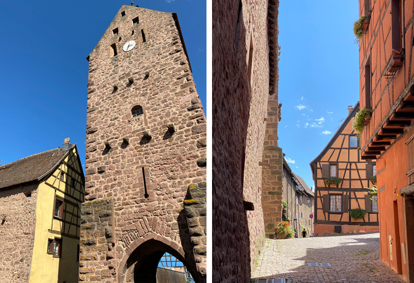 poort en bastion in riquewihr