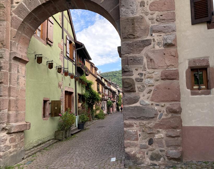 westpoort naar historische stad Kaysersberg