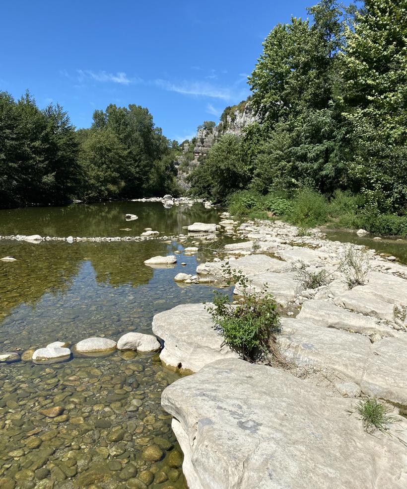 rivier bij Labeaume