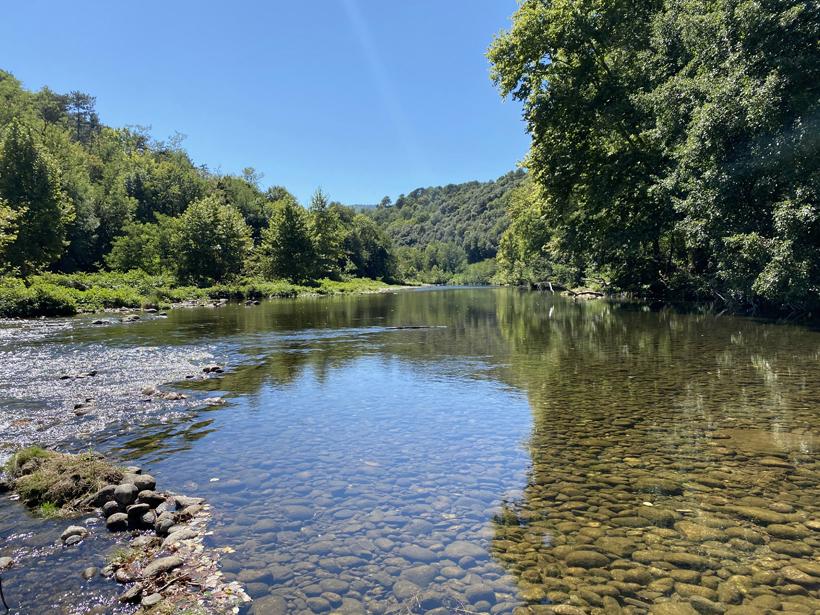 Chassezac rivier bij Les Vans