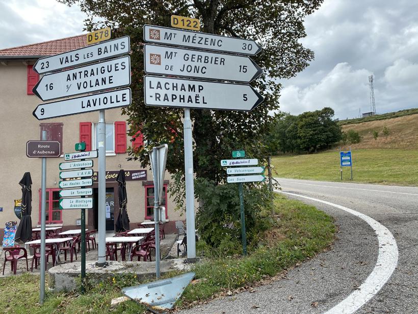 van sucs naar vallei in noorden Ardèche