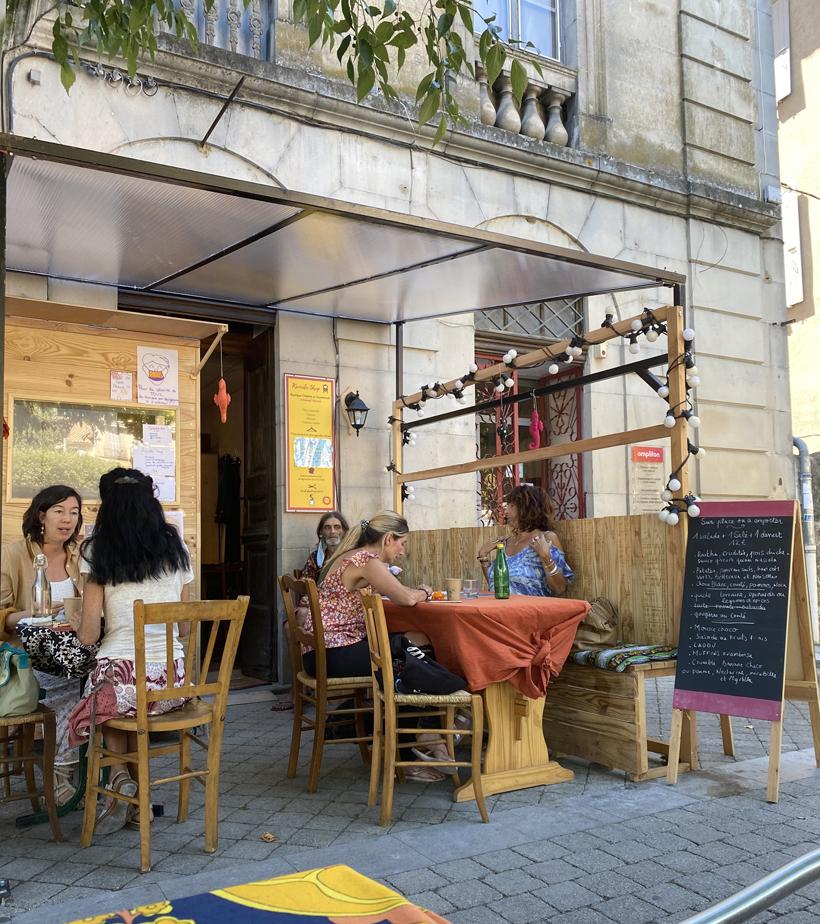 veggie restaurantje in Les Vans