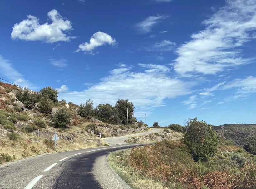 rijden in Mont de Ardèche bij Thines
