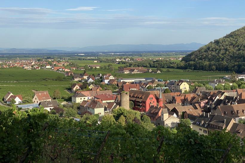 zicht op Duitsland vanop kasteel Kaysersberg