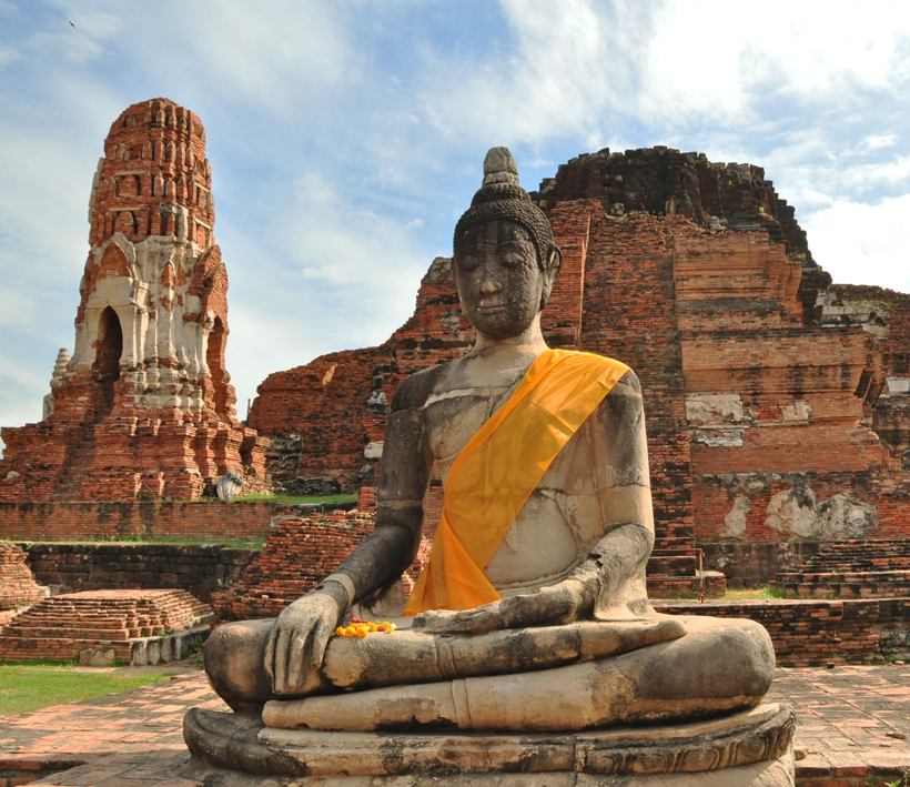 Ayutthaya oude hoofdstad Thailand