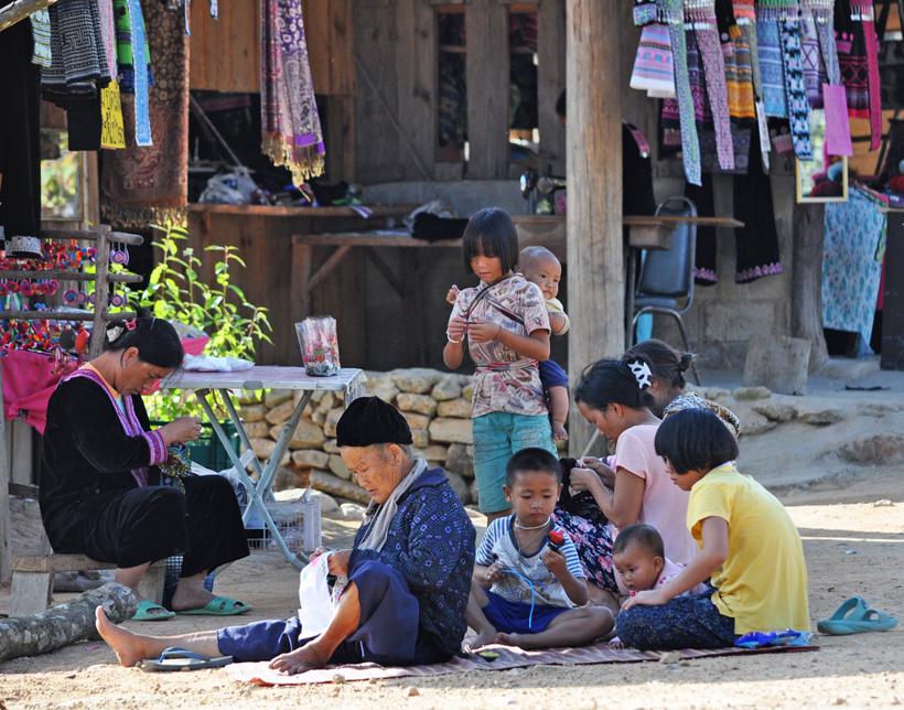 Thais dorpsleven noord Thailand