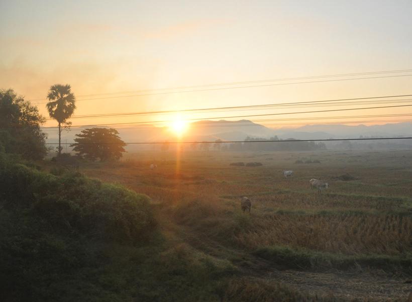 aankomst met nachttrein in Chiang Mai