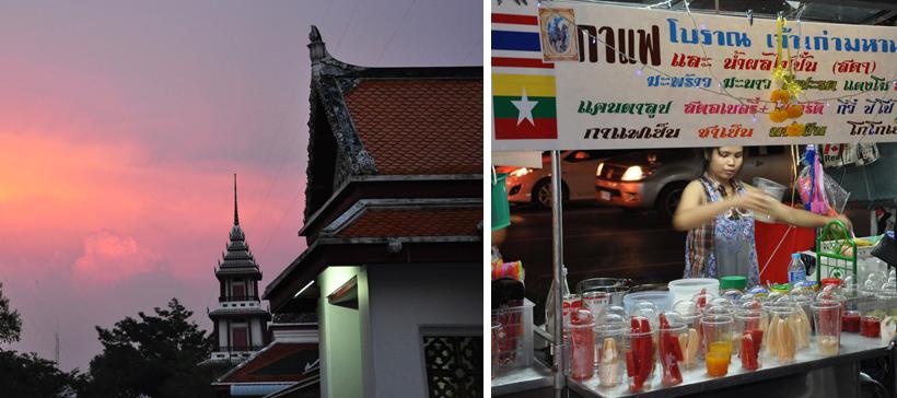 avondgloed in Bangkok