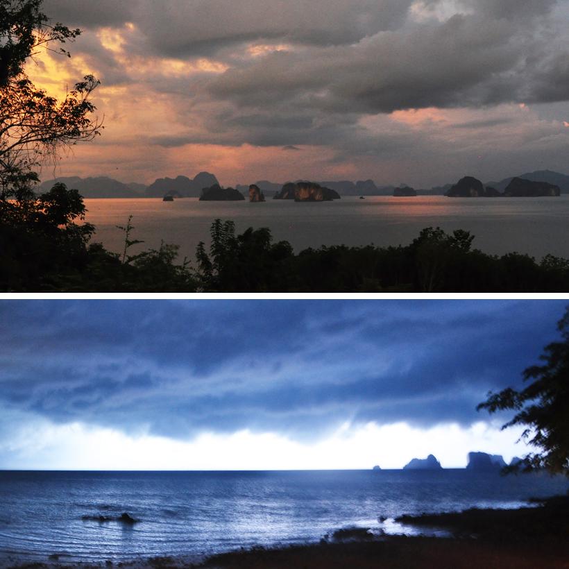 Phang-Nga Bay vanuit Koh Yao Noi in Zuid-Thailand