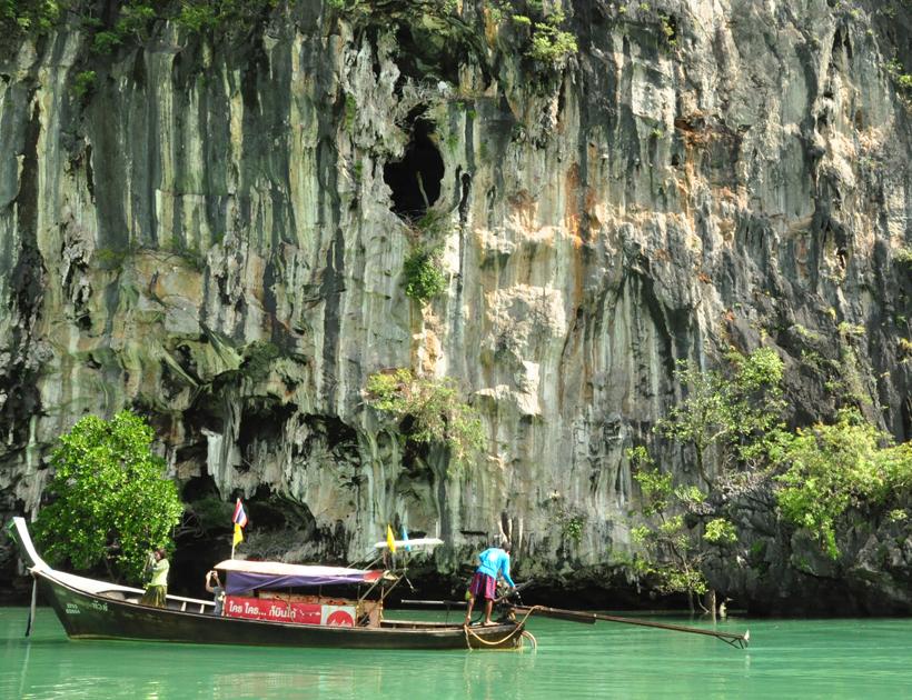 Koh Hong Langoon in in Zuid-Thailand