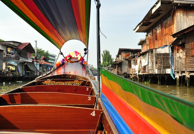 boottochtje kanalen in Bangkok