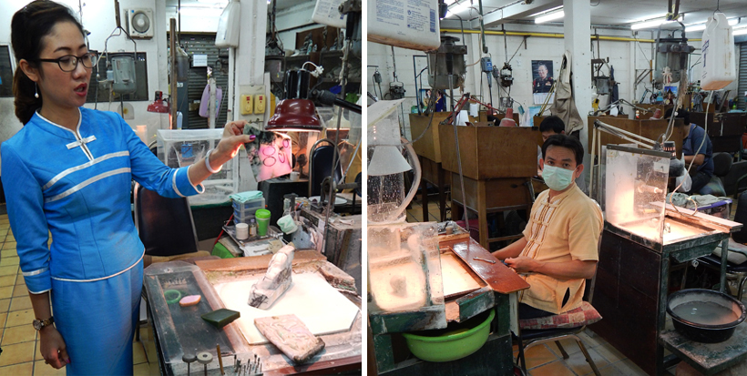 jadefabriek bij Chiang Mai