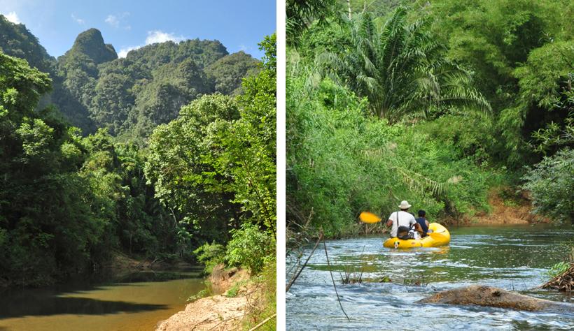 kanovaren in Zuid-Thailand