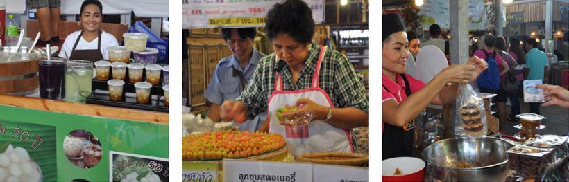 markt in klongs van Bangkok