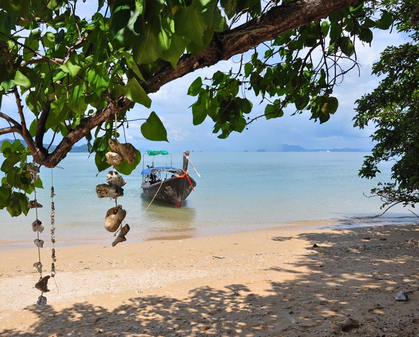 Eiland koh nok in Zuid-Thailand