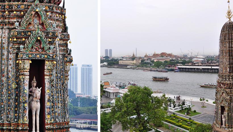 Zicht op Bangkok vanaf Wat Arun