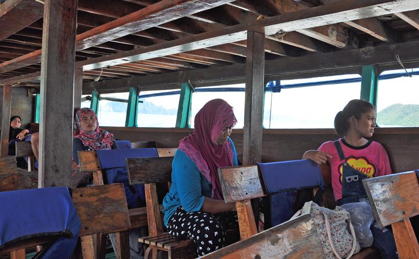 watertaxi van bang rong pier naar eiland Koh yao noi in Zuid-Thailand