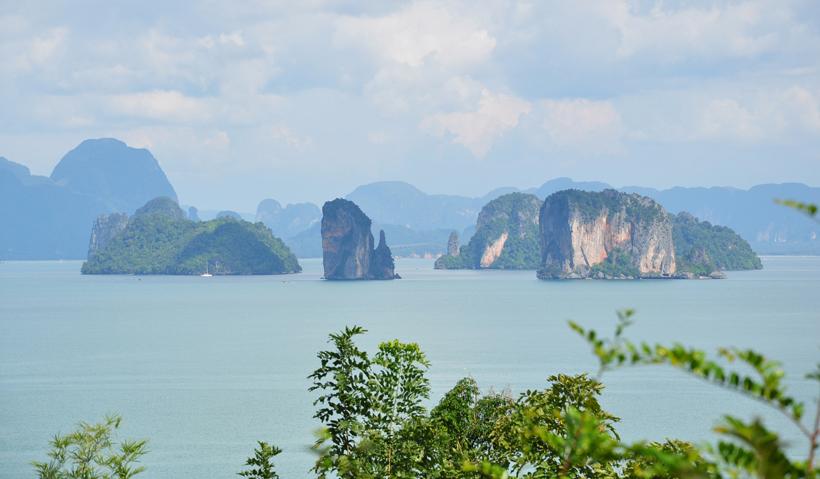 phang nga bay in in Zuid-Thailand