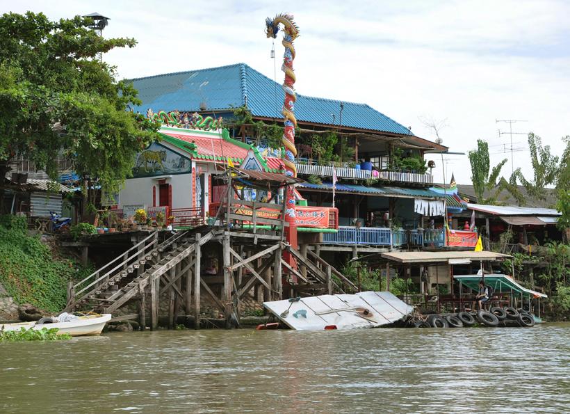 veerboot in Ayutthaya oude hoofdstad Thailand