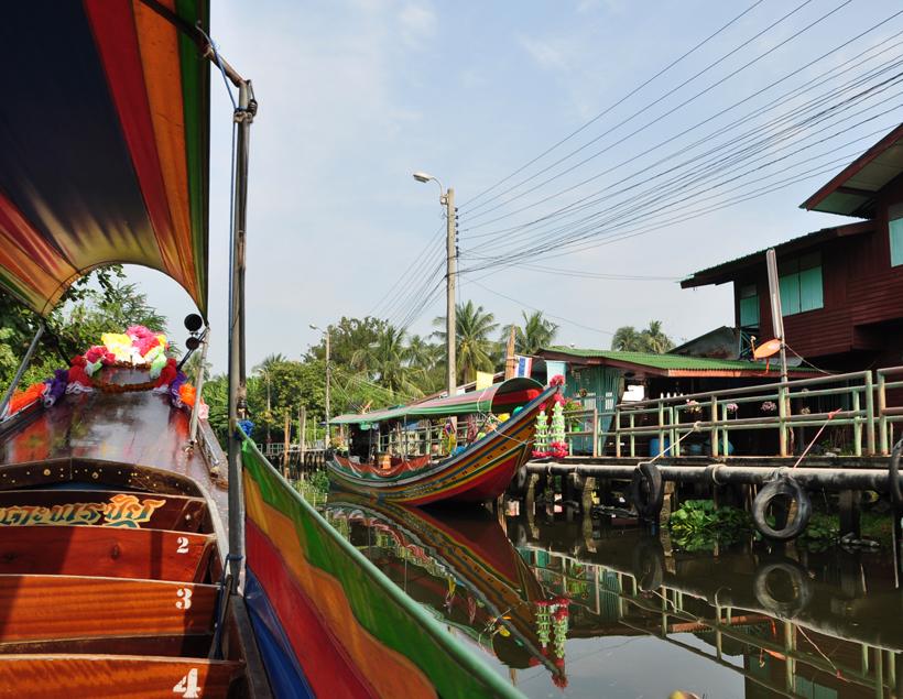 boottochtje op kanalen in Bangkok