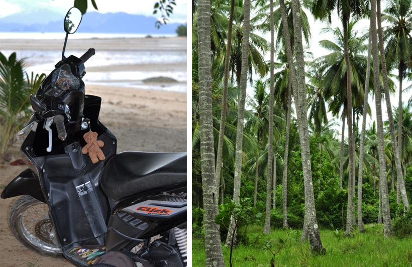 met scooter op eiland Koh Yao Noi in Zuid-Thailand