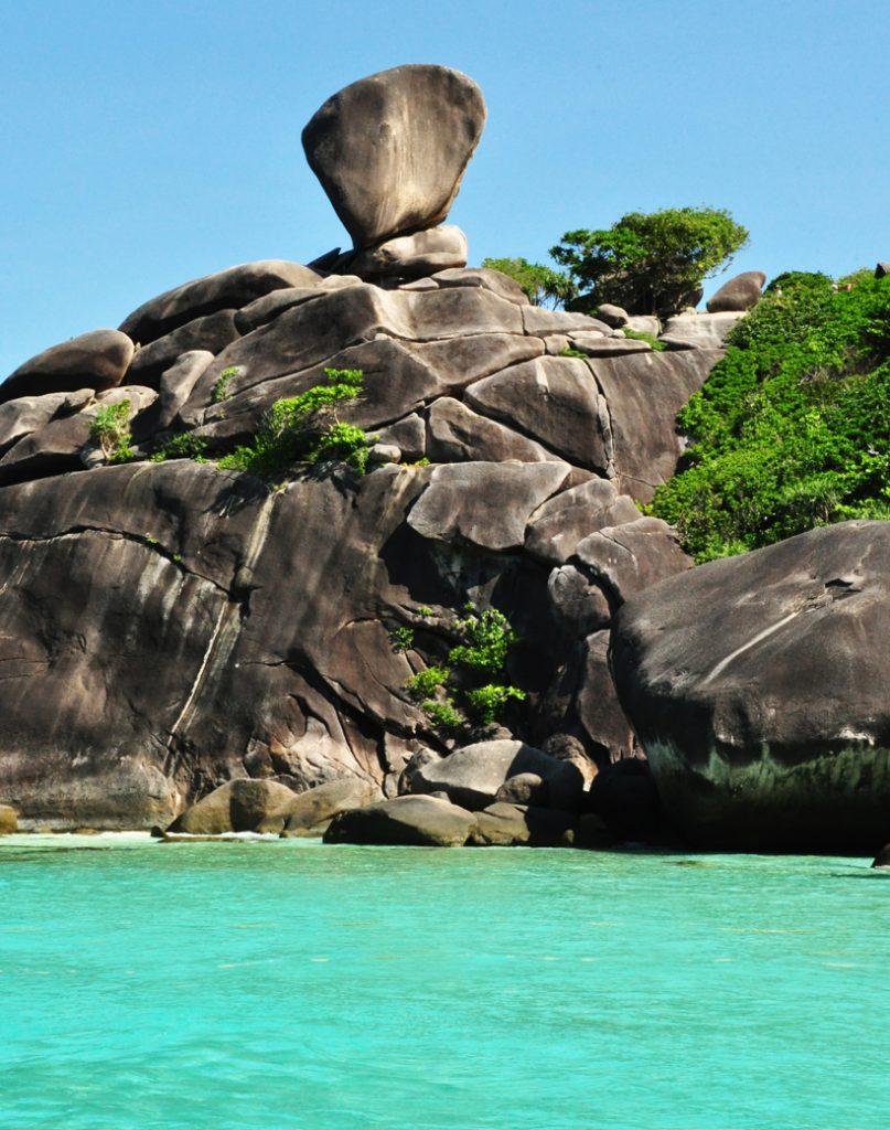 rots op Similan eilanden