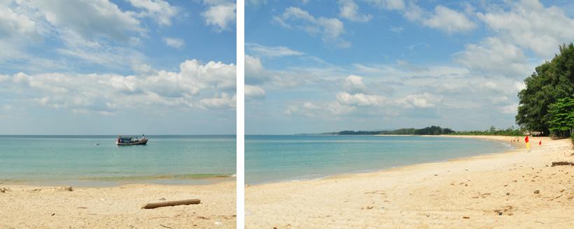 rustig strand vlakbij luchthaven phuket
