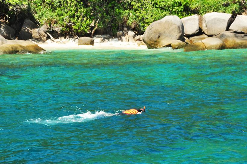 snorkelen aan de Similan eilanden