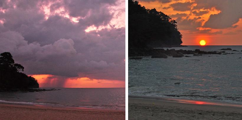 zonsondergang strand Khao Lak