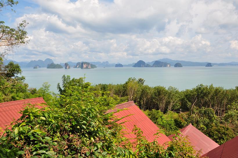 uitzicht ontbijtterras Tabeak point in Zuid-Thailand