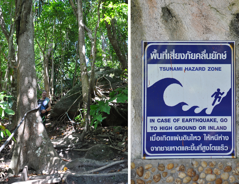 Tsnunami alarm op Similan eilanden in Zuid-Thailand