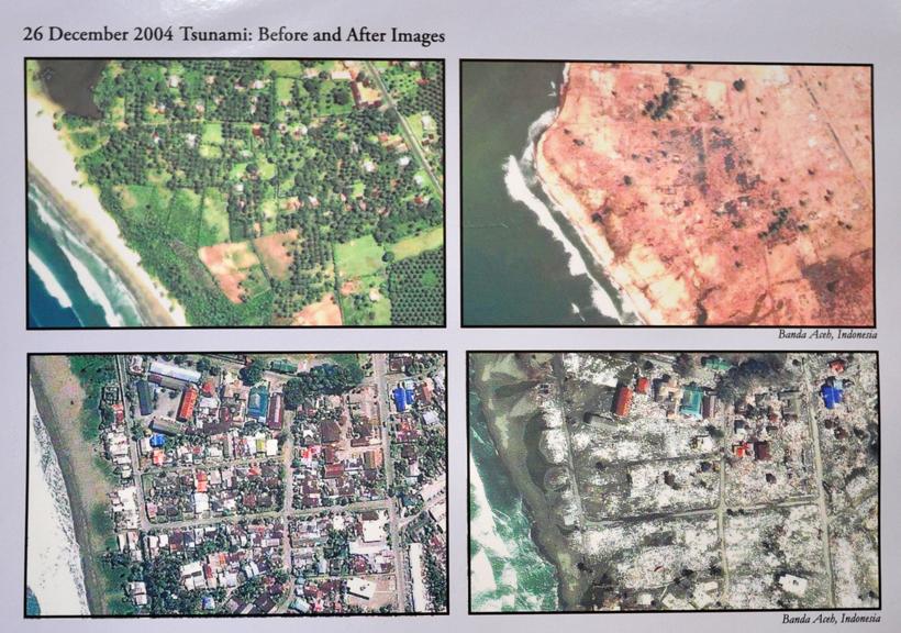 Tsunami monument Khao Lak in Zuid-Thailand