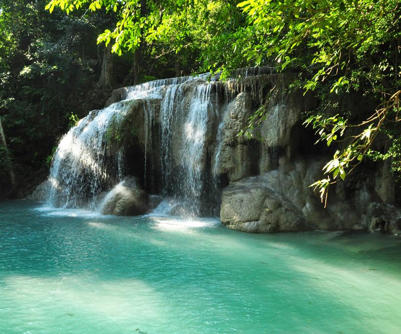 Erawan watervallen Thailand