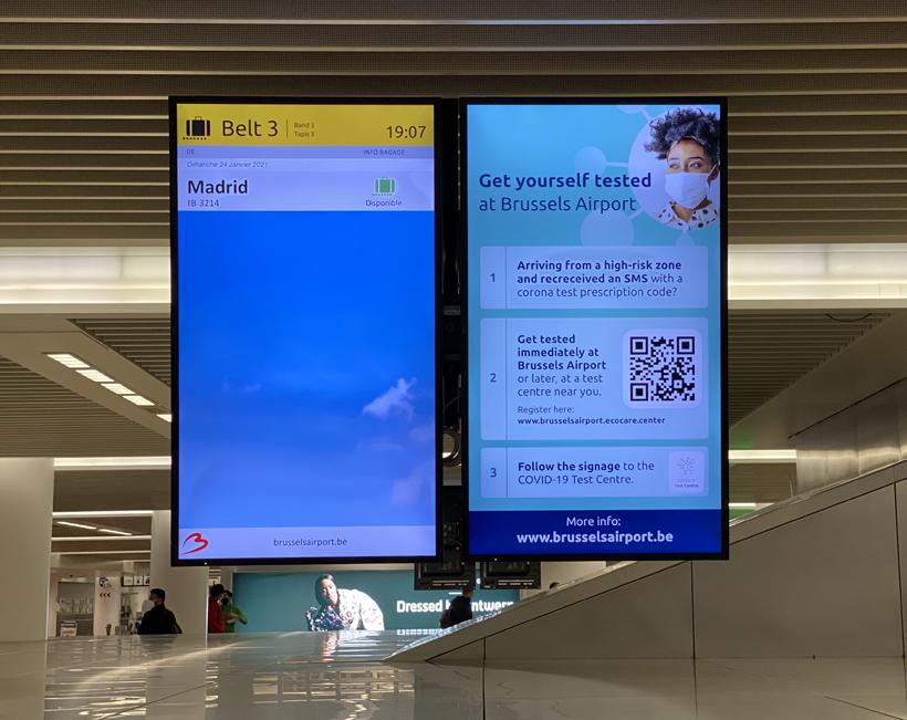 Aankomst op Brussels airport covid