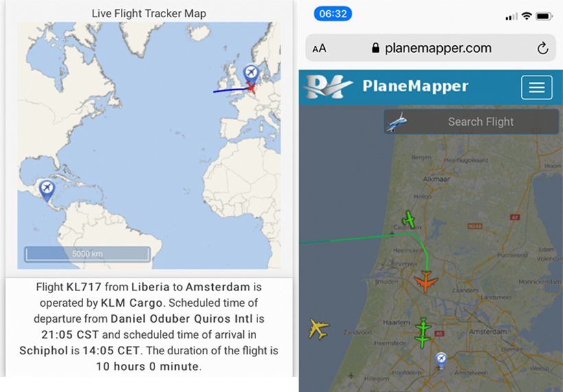 KLM laat passagiers achter in Costa Rica
